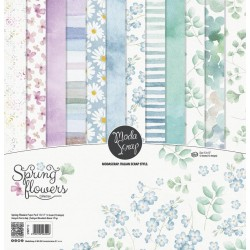 "ModaScrap- Kit Collezione Spring Flowers - 12x12"""
