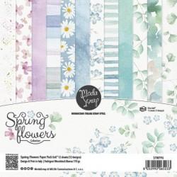 "ModaScrap- Kit Collezione Spring Flowers - 6x6"""