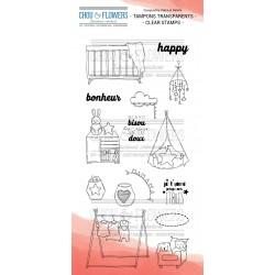 Chou & Flowers - Timbri Clear - Chambre Enfant 1