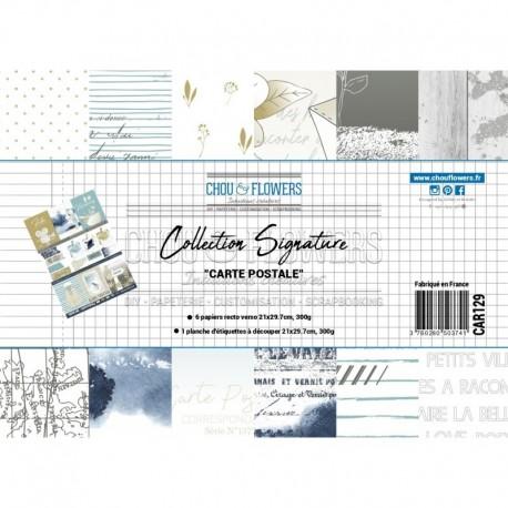 Chou & Flowers - Kit Collezione Signature Carte Postale - A4