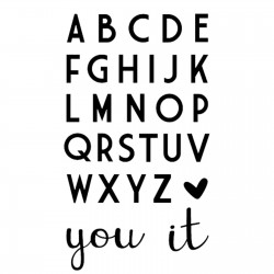 Vaessen Creative - Fustella - Love It Alphabet
