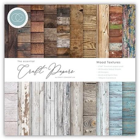 """Craft Consortium - Kit Wood Textures - 6""""x6"""""""