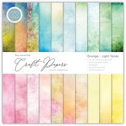 "Craft Consortium - Kit Grunge - Light Tones - 12""x12"""