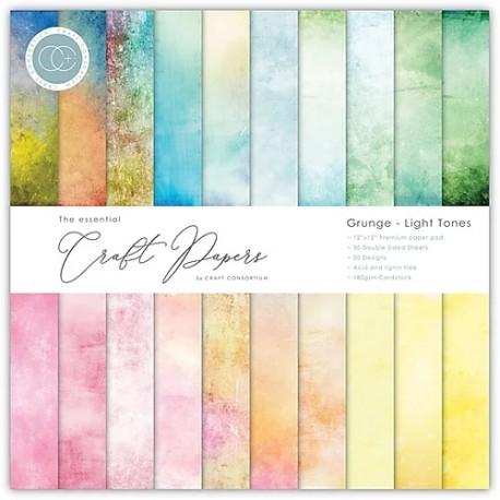 "Craft Consortium - Kit Grunge - Light Tones - 12""x12"""