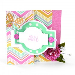 Fustella Sizzix Bigz L - Card, Ornate Flip-its 2