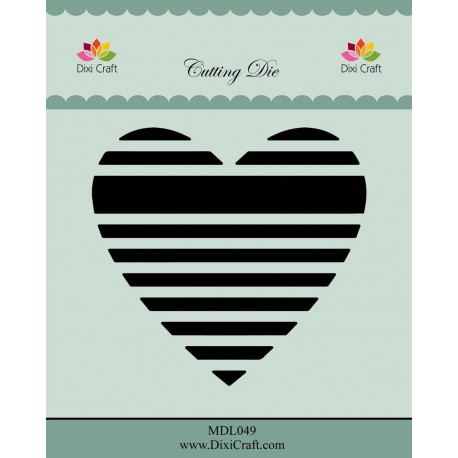 Dixi Craft - Fustella - Striped Hearts