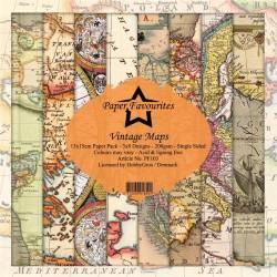 """Paper Favourites - Kit Collezione - Vintage Maps 6""""x6"""""""