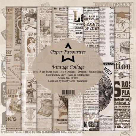 "Paper Favourites - Kit Collezione - Vintage Collage 6""x6"""