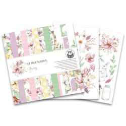 PIATEK13 -  Paper Pad - The Four Seasons - Spring 6x6""