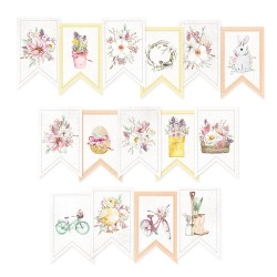 PIATEK13 - Paper die cut garland - The Four Seasons - Spring