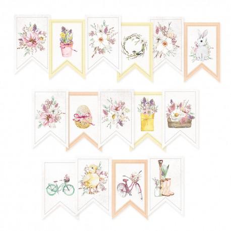 PIATEK13 - Paper die cut garland - The Four Seasons - Spring