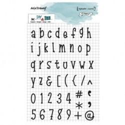DIY and Cie - Timbri Clear - Alphabet Licorne