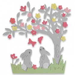 Sizzix - Fustella Thinlits - Bunny Scene