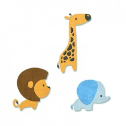 Sizzix - Fustella Thinlits - Baby Jungle Animals