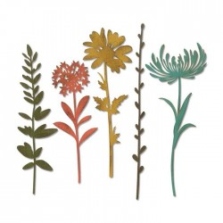 Sizzix - Fustella Thinlits - Wildflower Stems 1