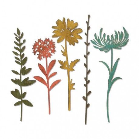 Sizzix - Fustella Thinlits - Wildflower Stems 1