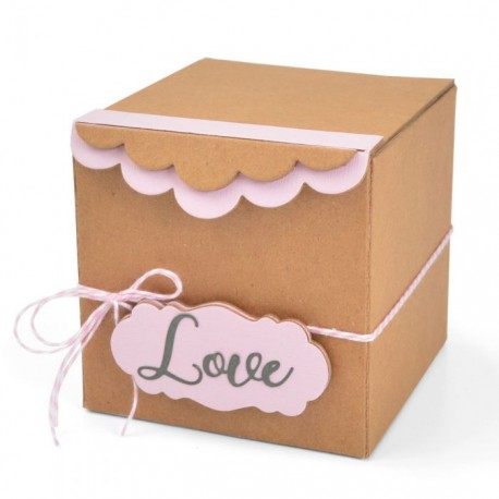 Sizzix - Fustella Scoreboards XL - Box, Gift w/Scallop Edges