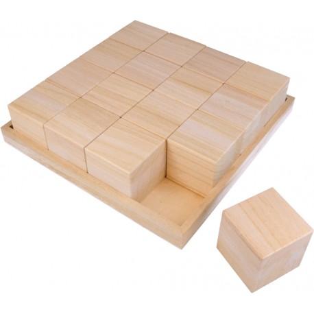 Artemio - Cubi in legno da decorare 26,5x26,5 cm