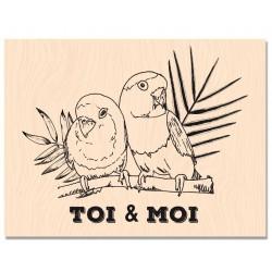 Les Ateliers de Karine - Timbro legno - Toi et Moi