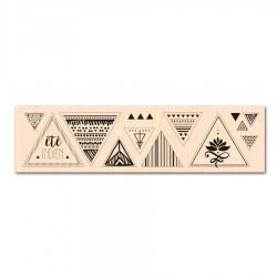 Les Ateliers de Karine - Timbro legno - Triangles graphiques