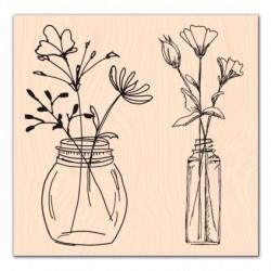 Les Ateliers de Karine - Timbro legno - Jolis Bouquets