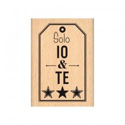 Florileges  Design - Timbro legno - SOLO IO E TE