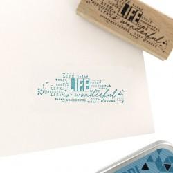 Florileges  Design - Timbro legno - LIFE IS WONDERFUL