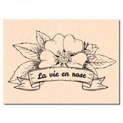 Les Ateliers de Karine - Timbro legno - La vie est belle