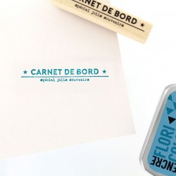 Florileges Design - Timbro legno  - CARNET DE SOUVENIRS