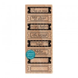 Florileges Design - Timbro legno  - Huit Tickets