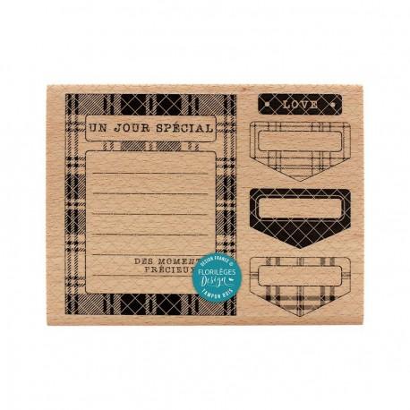 Florileges  Design - Timbro legno - Carte Et Onglets