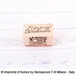 Impronte d'autore - Timbro legno - Merry Christmas