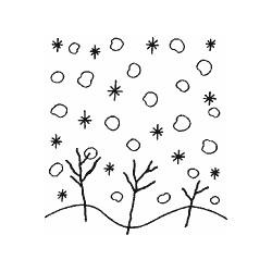 Impronte d'autore - Timbro legno - nevicata