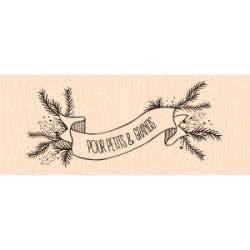 Les Ateliers de Karine - Timbro Legno - Bannière hivernale