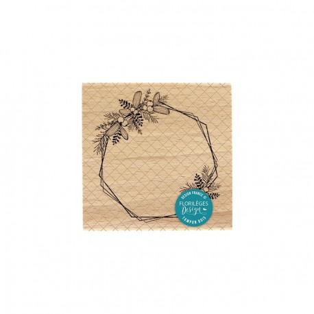 Florileges Design - Timbro legno - Hexagones Embellis