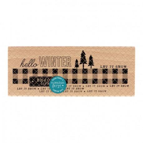 Florileges Design - Timbro legno - Enjoy Winter Life