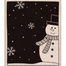 Hero Arts - Timbro legno - Snowman and Snowflakes