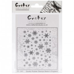 Crafty Individuals - Timbri Cling - Snowflakes Background