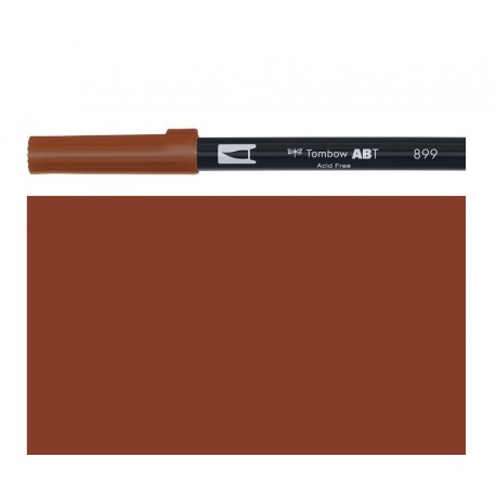 Tombow  - Pennarello Dual Brush - Redwood 899