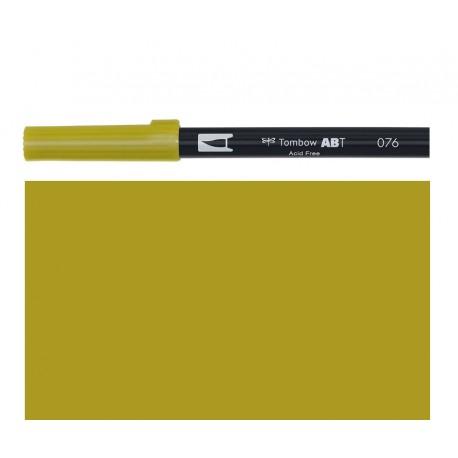 Tombow - Pennarello Dual Brush - Green Ochre 076