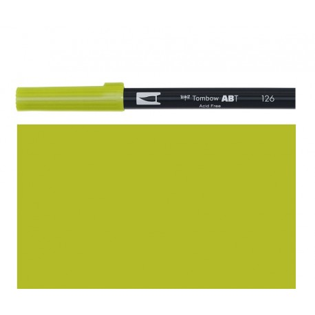 Tombow - Pennarello Dual Brush - Light Olive 126