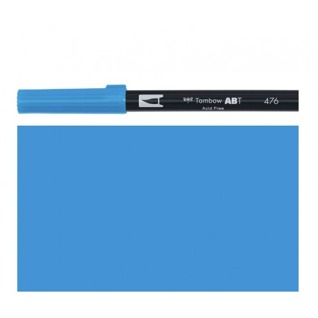 Tombow - Pennarello Dual Brush - Cyan 476