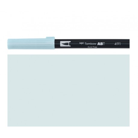 Tombow - Pennarello Dual Brush - Glacier Blue 491