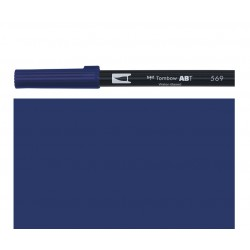 Tombow - Pennarello Dual Brush -  Jet Blue 569
