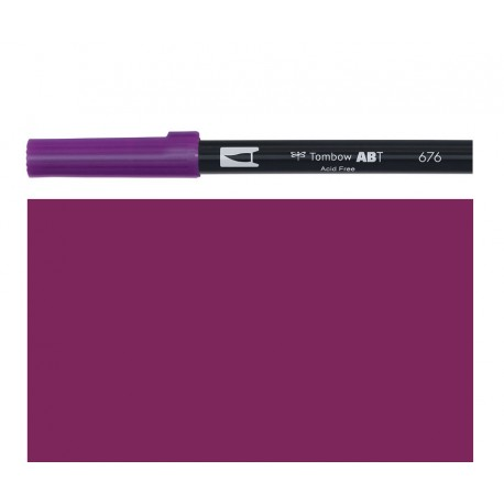 Tombow - Pennarello Dual Brush -  Royal Purple 676