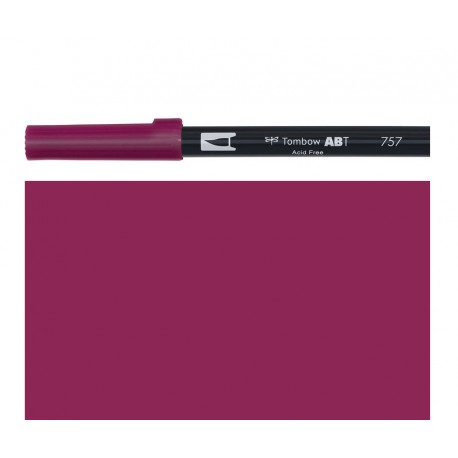 Tombow - Pennarello Dual Brush - Port Red 757