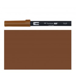 Tombow - Pennarello Dual Brush - Chocolate 969