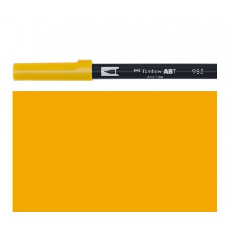 Tombow - Pennarello Dual Brush - Chrome Yellow 985