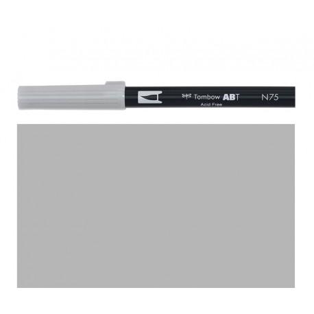 Tombow - Pennarello Dual Brush -  Cool Gray 3 - N75