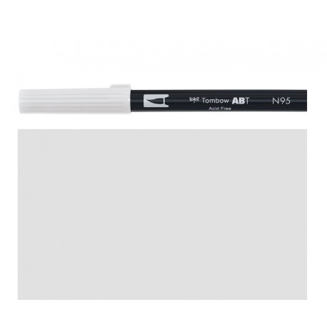 Tombow - Pennarello Dual Brush - Cool Gray 1 - N95